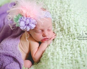 Large Pastel Newborn Headband