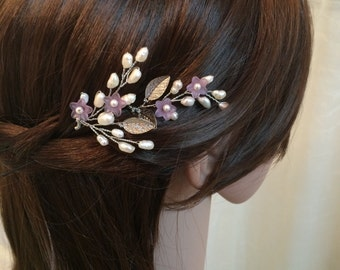 Pearl hair accessories, wedding hair pins, hair accessory bridal, hair pin bridal, wedding hair accessories, flower headpiece x2, wedding