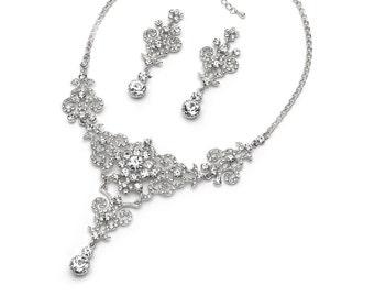 Vintage Bridal Jewelry Set, Rhinestone Jewelry Set, Bridal Accessories, Antique Wedding Jewelry, Bridal Jewelry, Bride Jewelry Set ~JS-1660