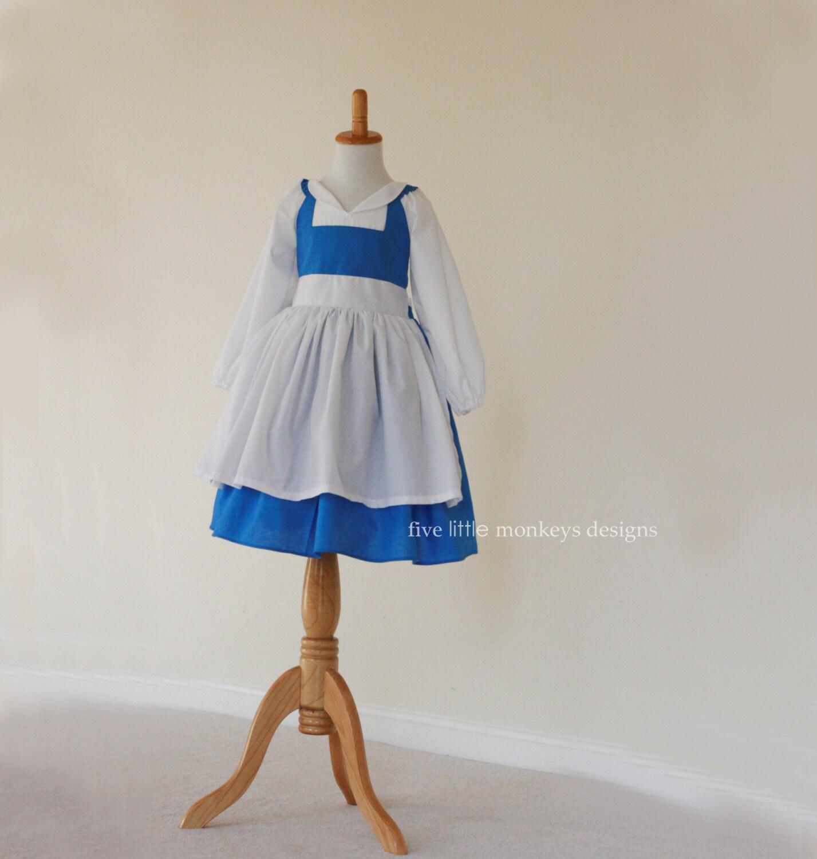 White apron belle - Belle Dress Belle Costume Blue Belle Dress Blue Belle Costume Provincial Belle Belle Town Dress Provincial Belle Dress