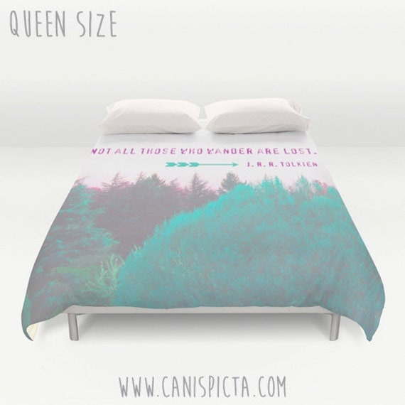 Lord Of The Ring Duvet Cover Woodland Queen King Full J R R
