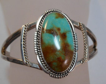 Sterling Native Turquoise Bracelet