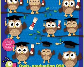60% off Owls Graduation clipart, happy owls images, school clipart, graduation clip art set 098