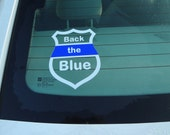 2 Police Window Decals Decal Support Our Blue Lives Matter Sticker # Back The Blue Thin Blue Line Car Glass Sheriff Police Officer Patrol