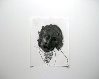 Portrait of a woman - Charcoal female head
