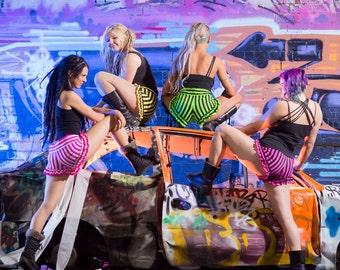 Psychedelic Circus Ruffle Shorts