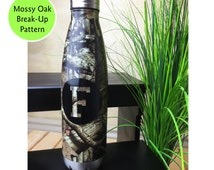 Stainless Steel Water Bottle, Personalized Thermos, Camo Water Bottle, Groomsmen Gift, Hunting Gifts for Men, Hunting Girl, Bottle Monogram