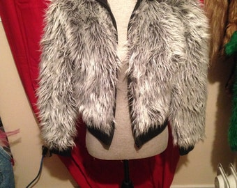 90s RARE CLUB KID furry jacket!
