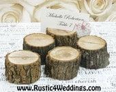 125 rustic place card holders, tree card holders, place holders, rustic wedding decor, wood place card holder, tree stump