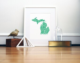 Michigan State Spartans Print