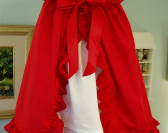 Little Red Riding Hood, I will make from Size 12 months - Size 5, this is a Custom Order