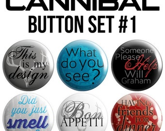 Cannibal Pinback Button Set #1