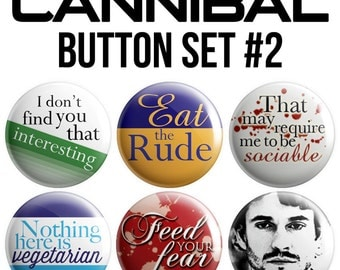 Cannibal Pinback Button Set #2