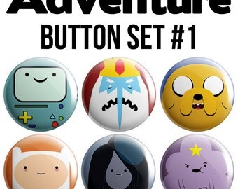Adventure Pinback Button Set #1