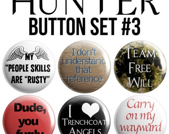 Hunter Pinback Button Set #3
