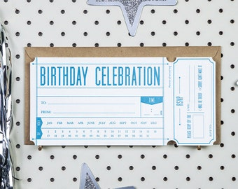 Fill-in Invitation - Birthday Ticket