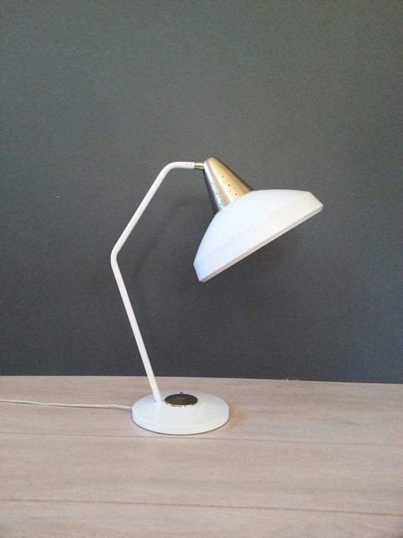 mid century lamp swivelier desk lamp table lamp white and gold. Black Bedroom Furniture Sets. Home Design Ideas