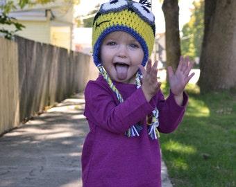Hand Crocheted Minion Hats