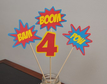 Superhero Centerpiece, Superhero Party Decorations, Superhero Birthday