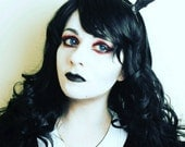 Black Gothic Mini Deer antlers headband