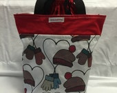 SALE   Divided Grommet Project Bag
