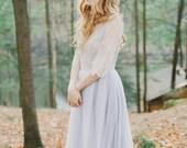 Lavender Wedding Grey Tulle Gown Grey Tulle Wedding Dress