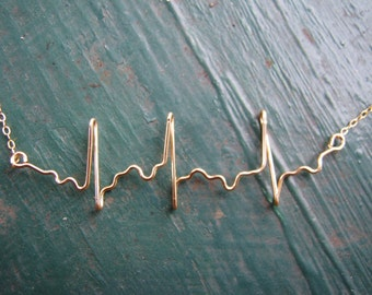 Atrial Fibrillation EKG Necklace, heartbeat necklace, gift for nurse, ecg necklace, gift for doctor, irregular heartbeat, cardiologist