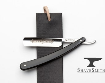 Beginner Straight Razor kit and Strop of Your Choice Featuring Shave Ready Dovo Straight Razor