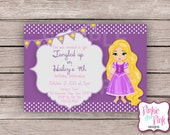 Personalized Rapunzel Birthday Party Invitation- Digital File Download