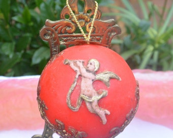 Wax Christmas Ornament - West Germany, Tree Ornament, Victorian Design - Antique - Stunning!