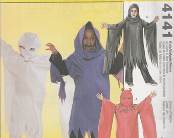 McCall's 4141 Size 3-8 Children's/Boys' Ghost Costumes Sewing Pattern Uncut