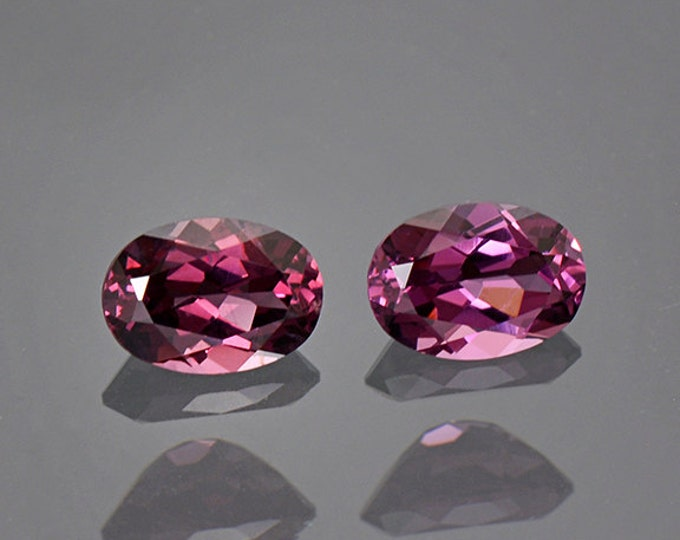 Beautiful Purple Pink Spinel Gemstone Match Pair from Tanzania 1.68 tcw.