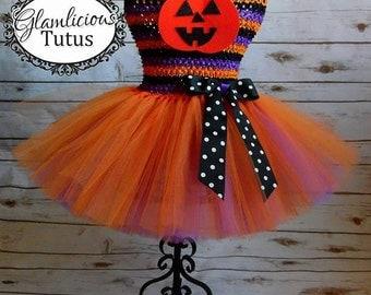 Cute Pumpkin Halloween tutu dress | Halloween Tutu dress | Newborn- Child 6/7 Listing