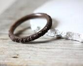 1970s brown floral bangle // cuff bracelet // vintage jewlery