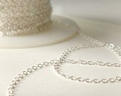 Sterling Silver Chain Upgrade for necklace, bracelet, anklet, add-on