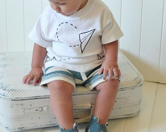 Paper planes baby t shirt, unisex kids tee, hipster clothes, airplane tee