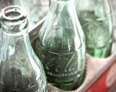 Cola Classic - Original Fine Art Photograph (Coca-Cola, bottles, vintage, retro, aqua)