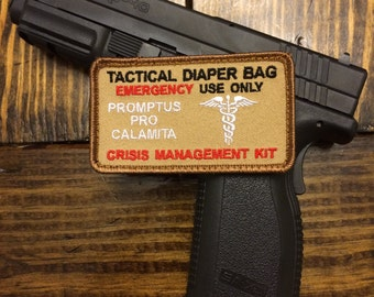 Tactical Diaper Bag Patch ~~Desert Tan~~~