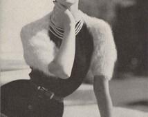 Bunny Shrug • 1950s Knitting Wedding Bridal Engagement Angora Bolero Wrap Cardigan Sweater • 50s Vintage Pattern • Retro Knit Digital PDF