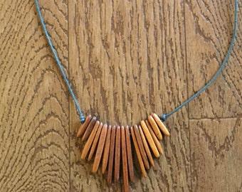 Boho Wooden Necklace