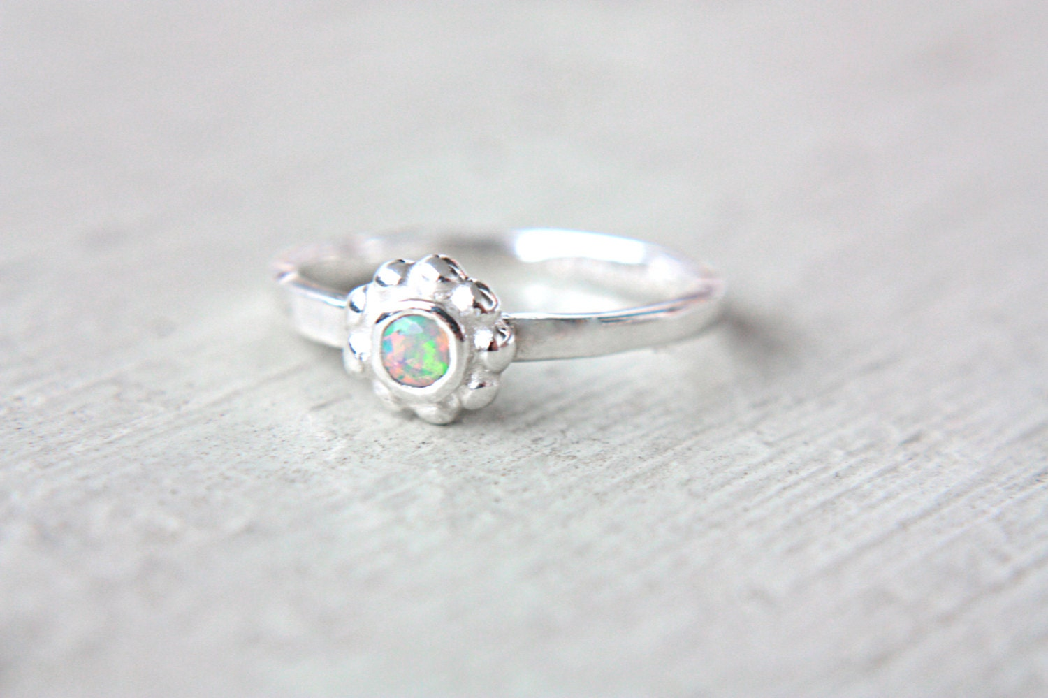 Natural Opal Ring Welo Opal Engagement Ring Little Opal Ring