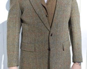 Moss Green Harris Tweed Blazer