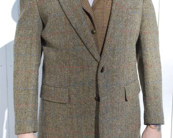 Moss Green Harris Tweed Blazer