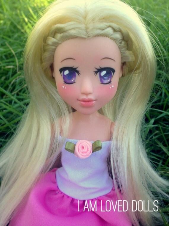 Bratz Anime Manga Doll Repaint Custom Doll Makeunder Ooak