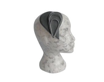 Charcoal Grey Zip and Felt Fascinator