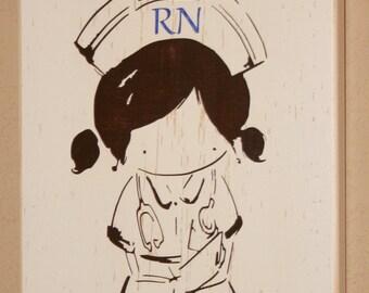 Nurse Sign, Nurse Decor, Nurse Gift, Nursing Profession Sign, Nurse Wall Sign, RN Sign, RN Gift, LPN Sign - Proud To Be A Nurse Accent Sign