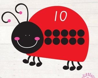 Ladybug Count Pom Pom Match -  AUTOMATIC DOWNLOAD