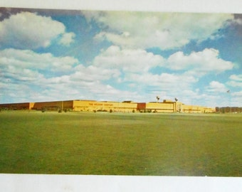 Upjohn Plant Michigan Postcard, Kalamazoo Michigan, Michigan State, Michigan Travel Souvenir, Midwest, Pharmaceutical,