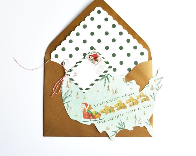 Fox Sleigh Ride Card