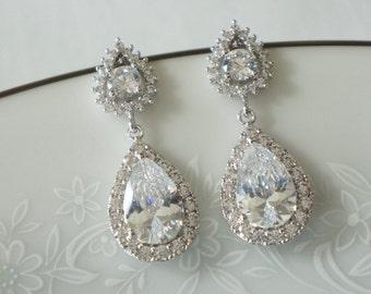 Bridal Earrings Wedding Jewelry Set Bridal Earrings Wedding Earrings Bridal Jewelry Crystal Drop Bridal Earrings Crystal
